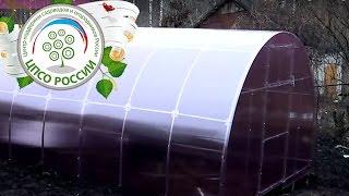 видео поставить теплицу из поликарбоната