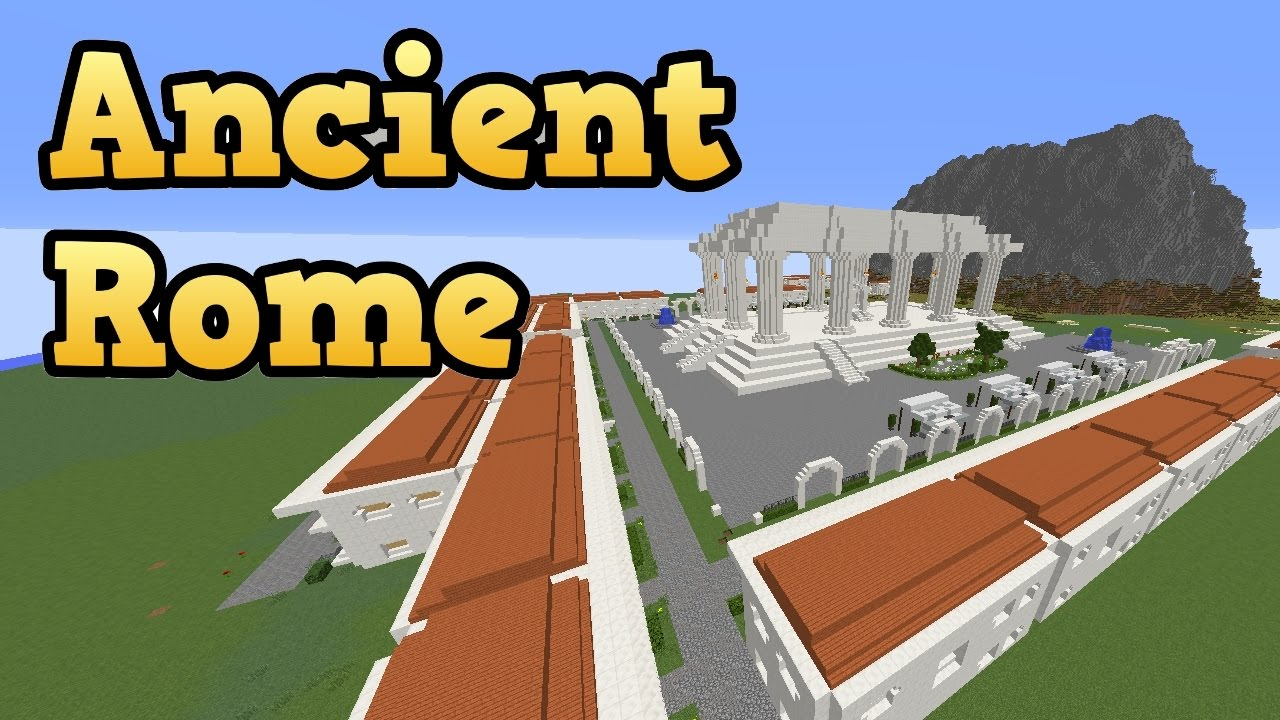 minecraft big build ancient city of rome with roman temple youtube