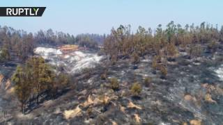 Drone captures the extent of devastating wildfires in Chile