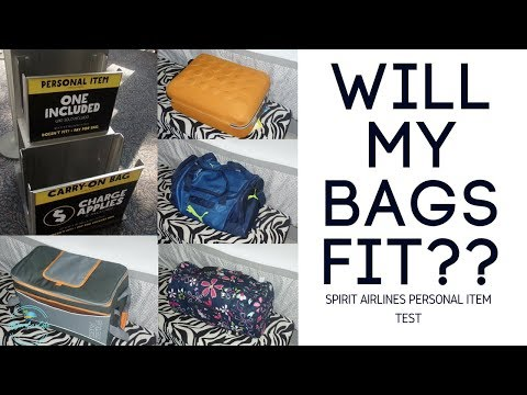 "Spirit Airlines 2017 Personal Item Luggage Test- 18""x14""x8"""