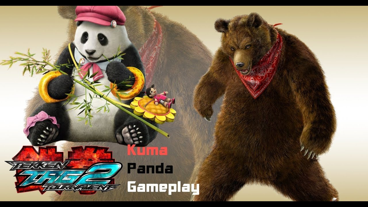Tekken Tag Tournament 2 Kuma Panda Gameplay Youtube