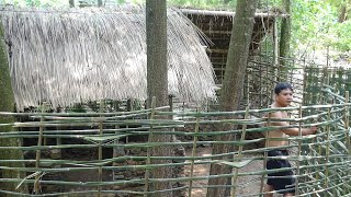 Primitive Life: Build a chicken house from stone and wood! full video!