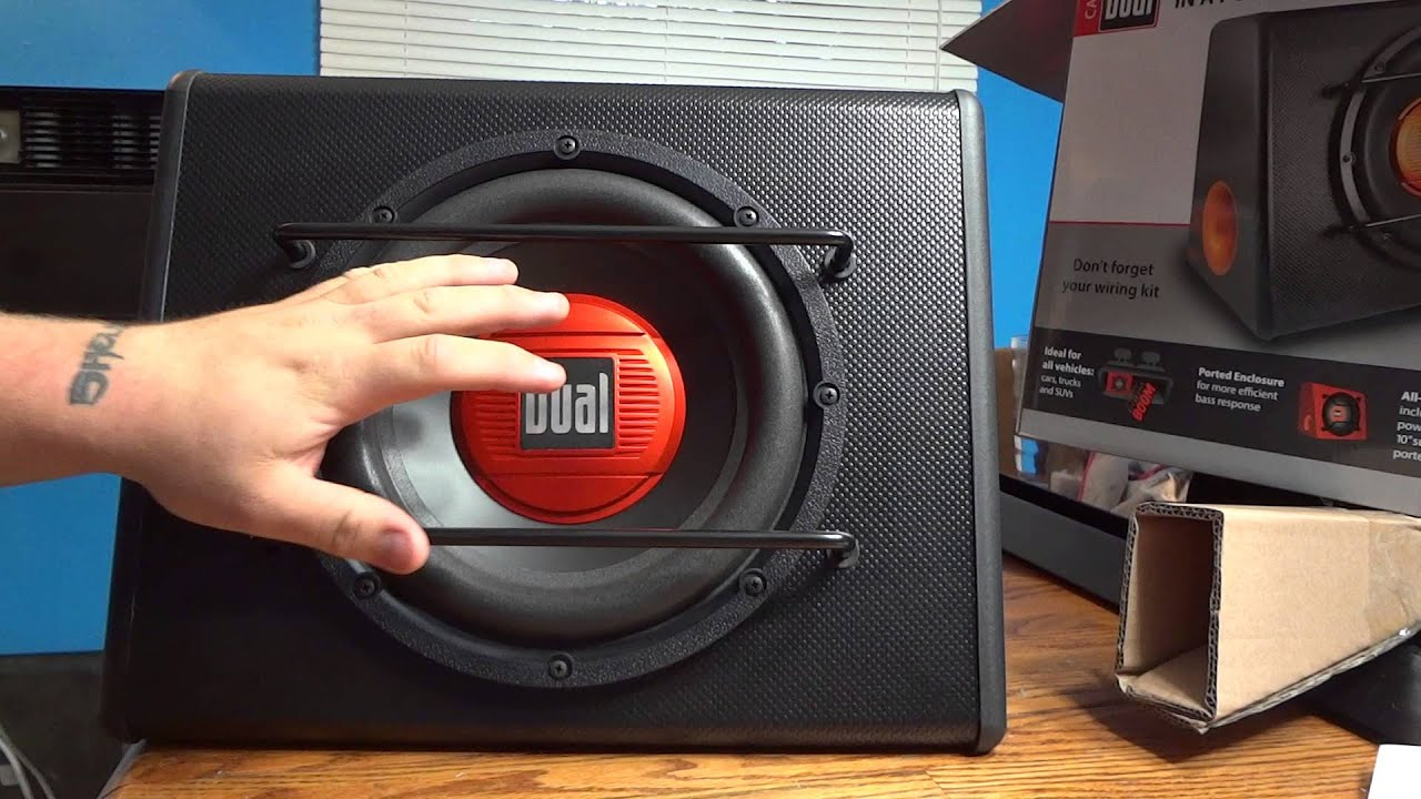dual tbx10a wiring diagram car window parts alb10 10 powered subwoofer unboxing youtube
