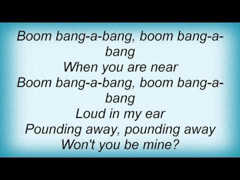 Lulu - Boom Bang - A - Bang Lyrics