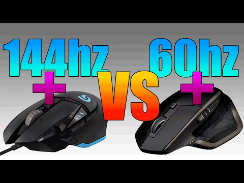 Do Gaming Peripherals Help In Gaming Performance? | 144hz vs 60hz | G502 vs MX Master