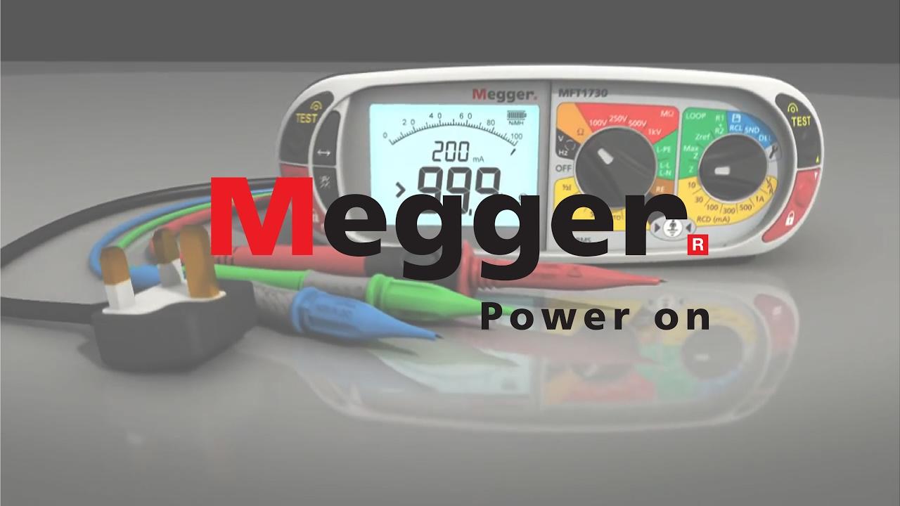 Megger MFT1730 Multifunction Tester Animation
