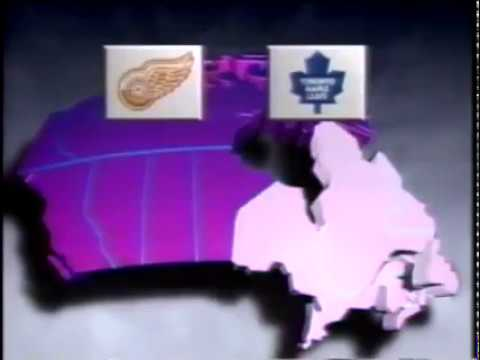 1991-92 Molson HNIC intro Kings vs Oilers and Leafs vs Red Wings