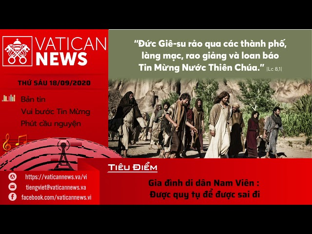 Radio: Vatican News Tiếng Việt thứ Sáu 18.09.2020