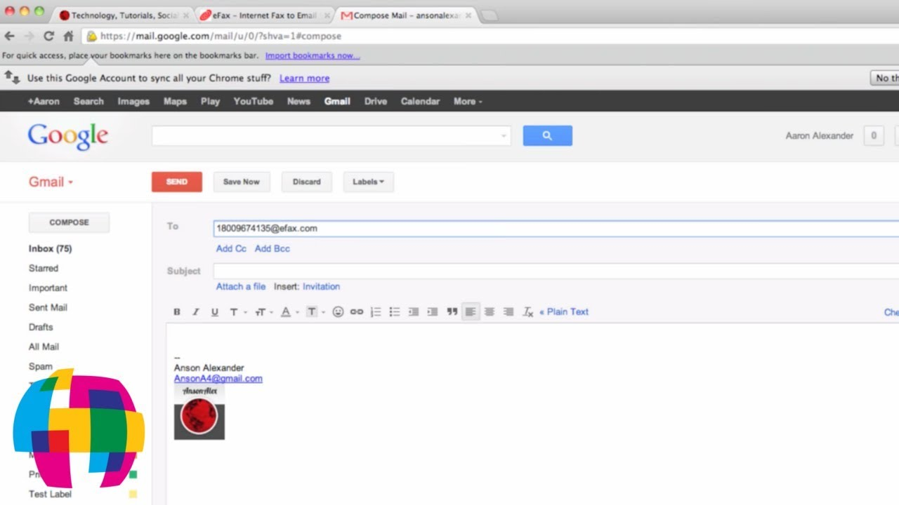 how to send and receive a fax with gmail youtube