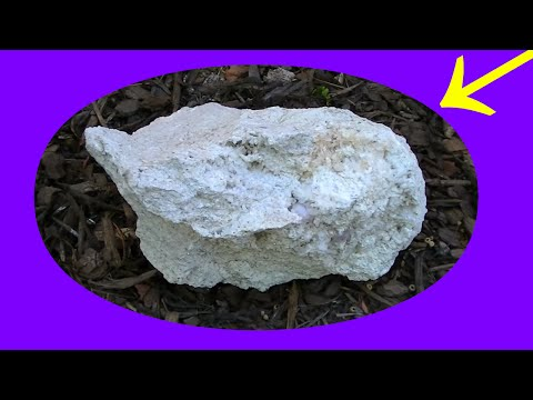 HUGE SURPRISE! FOUND GRAPE JELLY AMETHYST STUCK TO BACK OF BOULDER! CRYSTAL MINING CLEANUP
