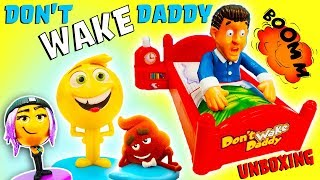 Don't Wake Daddy Unboxing with Emoji Movie Gene, Jailbreak, Hi-5! Learn Numbers \u0026 Counting!