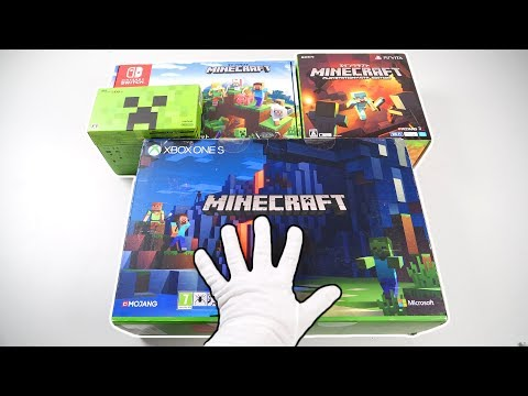 The Ultimate MINECRAFT Consoles Unboxing (Xbox One, Nintendo Switch, PlayStation Vita, 2DS XL)