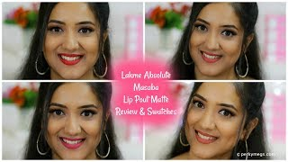 Lakme Absolute Lip Pouts Matte Masaba Lip Color Review and swatches on Medium Skin Perkymegs