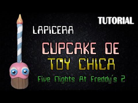Tutorial Lapicera Cupcake en Porcelana Fria | FNaF 2 | Cupcake Pen Polymer Clay Tutorial