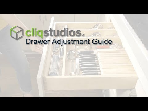 How to Adjust Cabinet Drawer Boxes & Glides