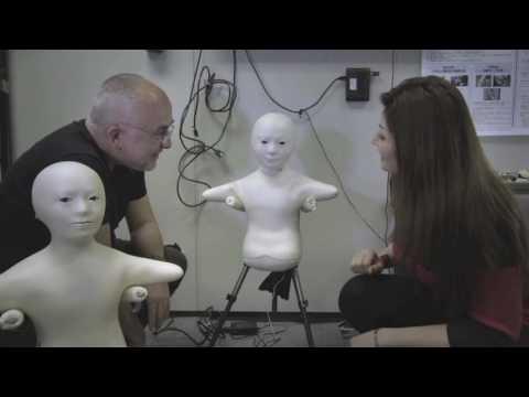 """Human or Robot?"" Telenoid scene"