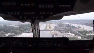 Impressive ARJ100 Cockpitview Landing at London City Airport