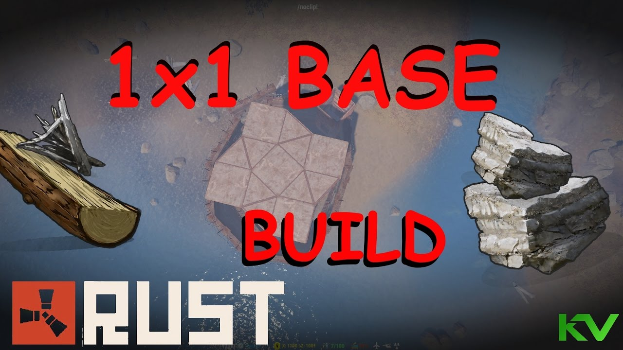 1X1 HONEYCOMB BASE BUILD | RUST - YouTube