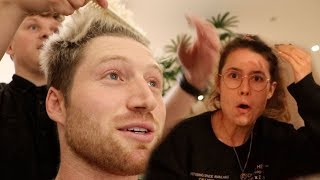 SURPRISING GIRLFRIEND WITH NEW HAIR!! (oops)