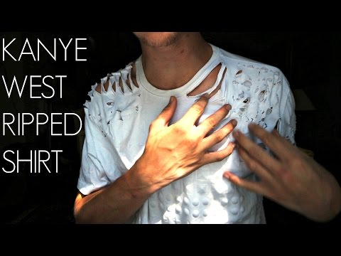 How To Make A Ripped T-Shirt Like Kanye West! || Kent Heckel