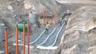 Дренажное поле бытовой канализации, от МонтажТехСервис!(Монтаж ливневой канализации, и бытовой канализации, с установкой колодцев, системы очистки и строительства..., 2015-08-08T12:05:55.000Z)