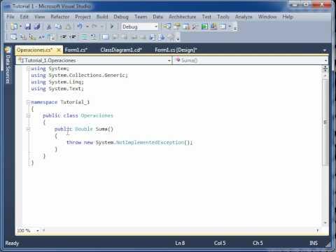 Creando El Primer Proyecto De  CSharp Con Clases Externas Parte 1