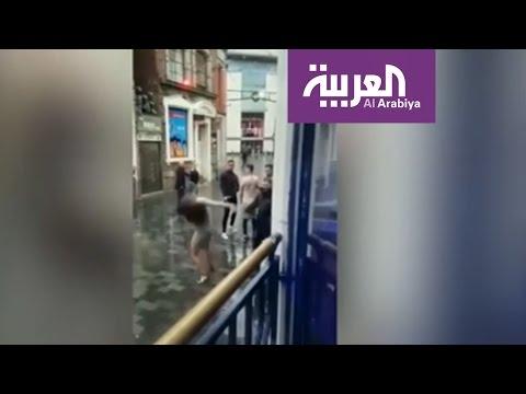 صباح العربية : ملاكمة بين عارضة أزياء وحارس أمن  - 12:21-2017 / 4 / 24