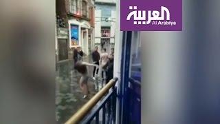 صباح العربية : ملاكمة بين عارضة أزياء وحارس أمن