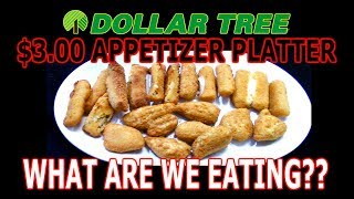 Dollar Tree $3.00 Appetizer Sampler! | WHAT ARE WE EATING?? | The Wolfe Pit