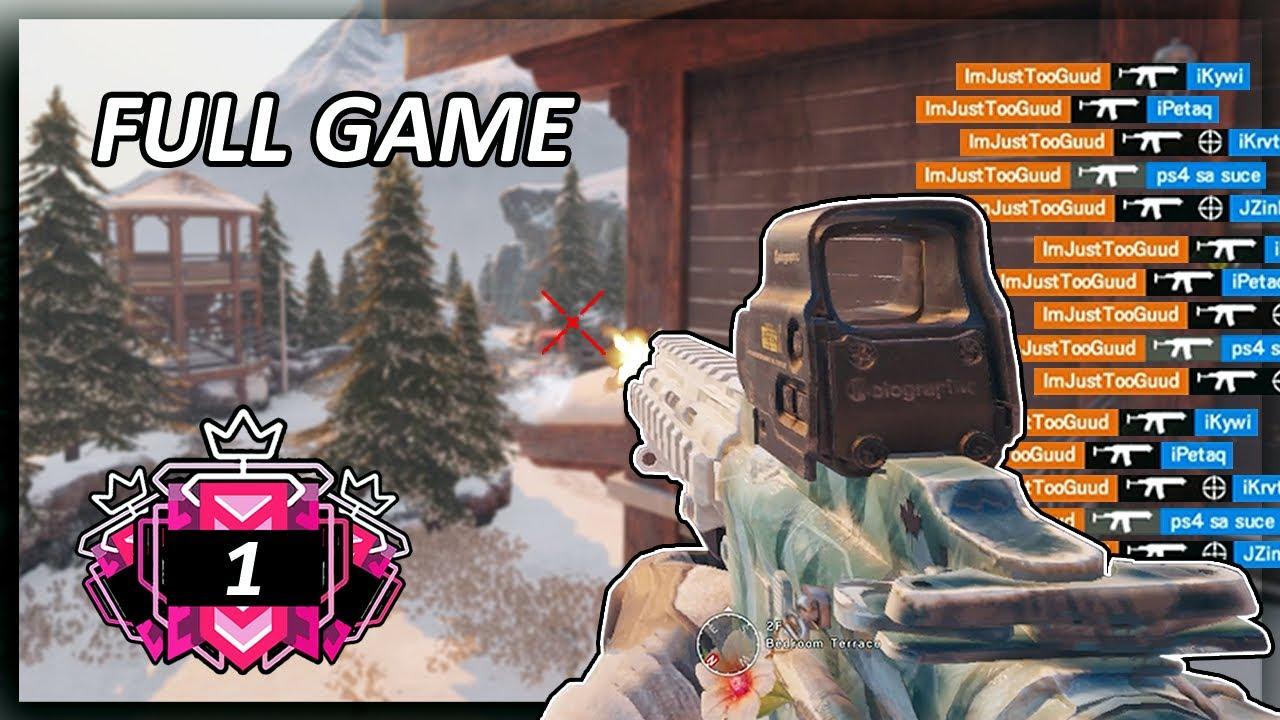 12-2 INSANE One Man Army Full Game: Rainbow Six Siege Gameplay thumbnail