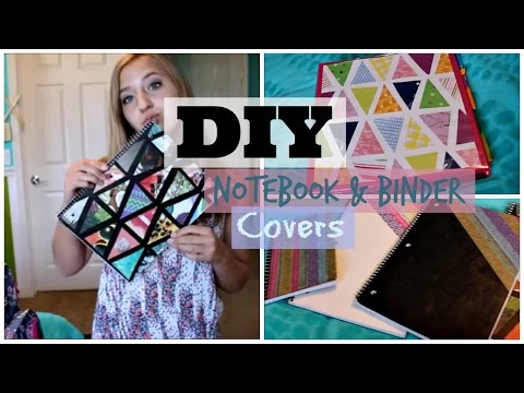 DIY BINDER & NOTEBOOK COVER (Back to School Series 1) | Julia Rome