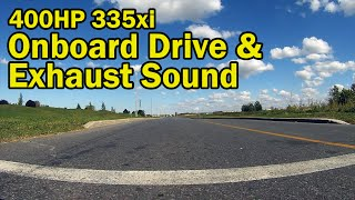 400HP BMW Twin Turbo N54 335xi / POV Onboard Drive / Rear View / Acceleration Sound