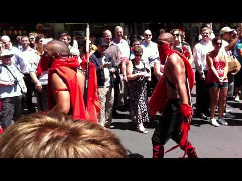 The Tongan Ninja's at 2011 Sevens Parade