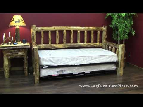 Beartooth Aspen Log Daybed From LogFurniturePlace.com