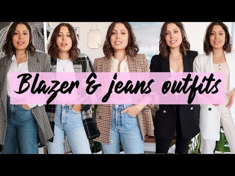 BLAZER & JEANS OUTFITS | Love of Mode - YouTube