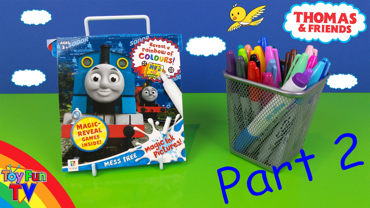 Thomas And Friends Coloring Book Thomas The Tank Engine Inkredible Magic Ink Colour Part 2 Toyfuntv