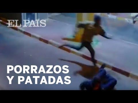 Porrazos y patadas de la Policía ante la entrada masiva de inmigrantes en Ceuta
