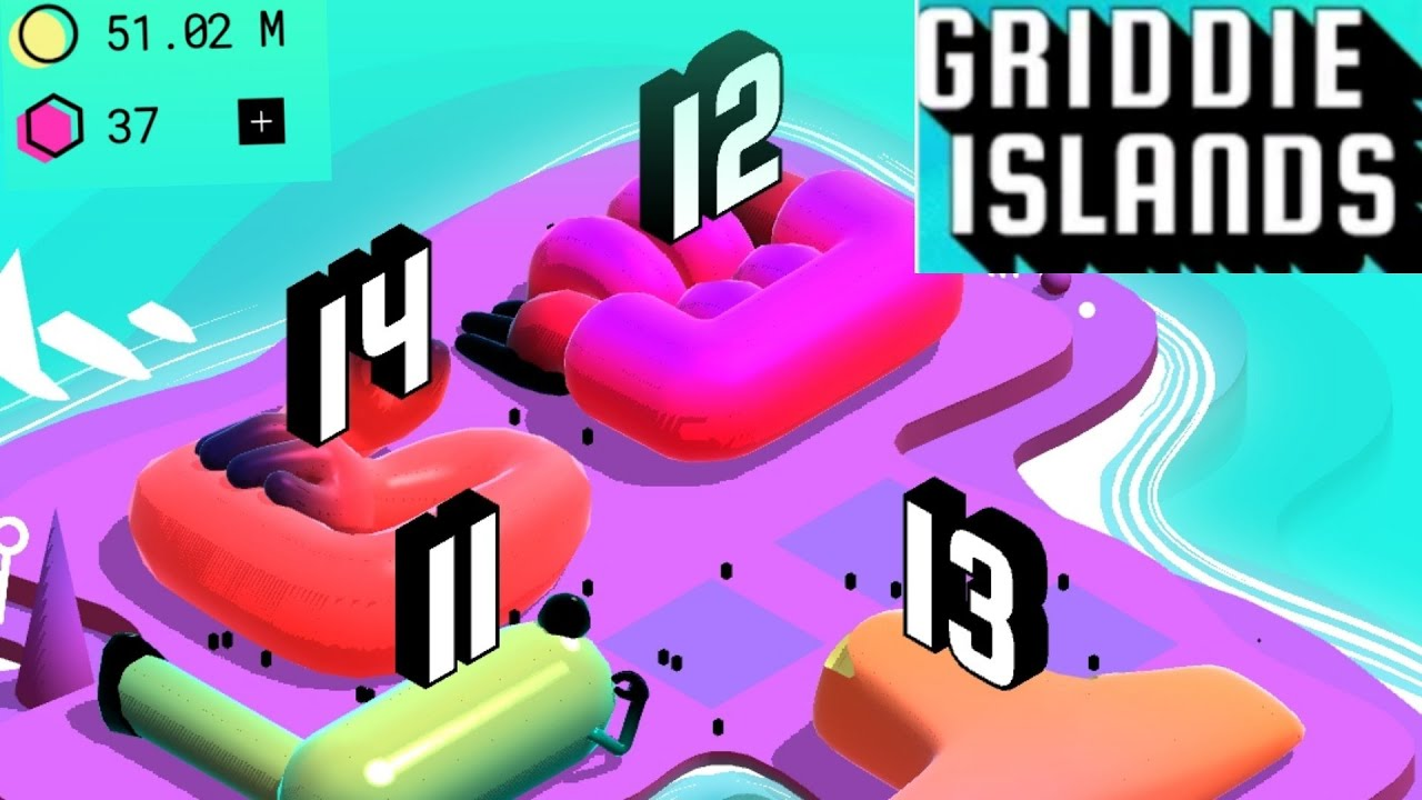 Griddie islands Android/ios Gameplay merging Game +tertis - YouTube