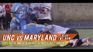 UNC vs Maryland | 2015 College Lacrosse Highlights