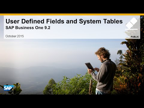 User Defined Fields and System Tables