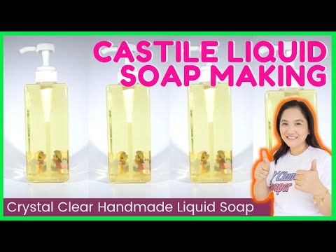 Castile Liquid Soap Making Handmade from Scratch using Potassium Hydroxide Liquid easy DIY beginners
