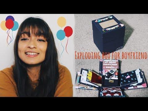 EXPLODING BOX FOR BOYFRIEND | Janette