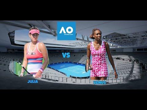Tennis Elbow Julia Goerges vs Venus Williams exibition match (FULL)