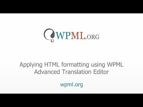 Applying HTML Formatting Using WPML Advanced Translation Editor