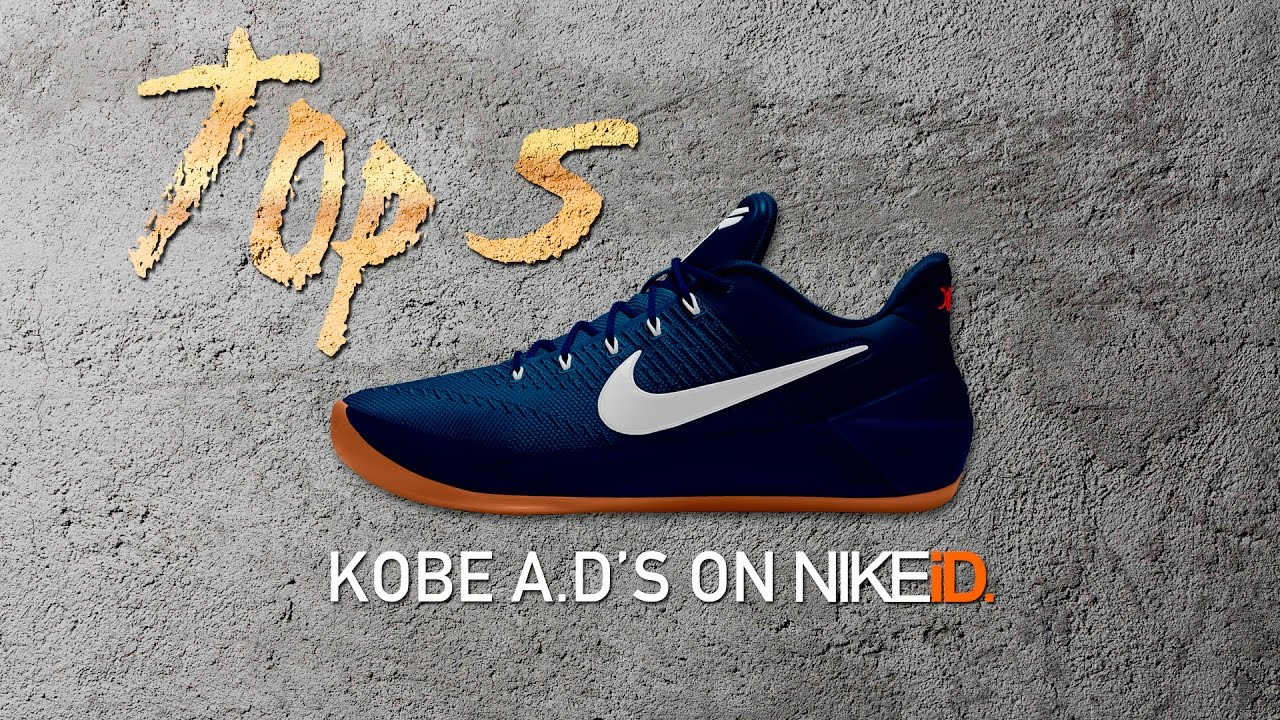 san francisco 39a86 e72f1 Top 5 Kobe A.D. Colorways on Nike iD