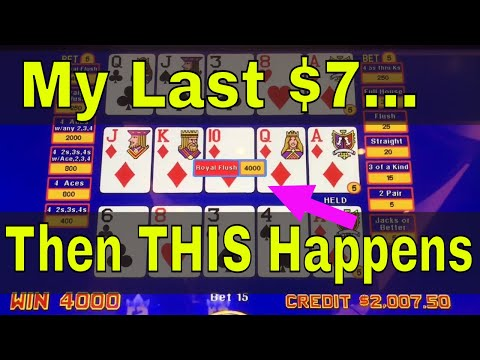 Video Poker JACKPOT 2018! Royal Flush As It Happens!