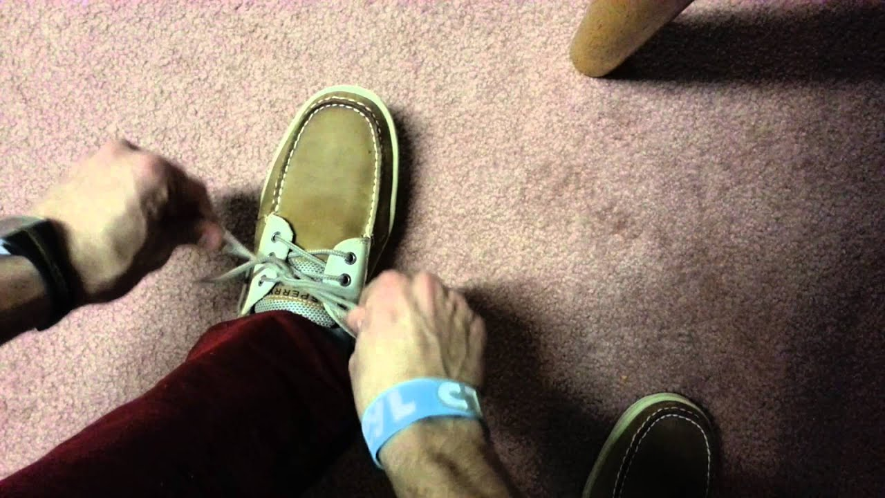 How to tie sperry topsider shoes correctly youtube ccuart Images
