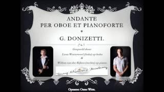 Andante Sostenuto per oboe et pianoforte (G. Donizetti), Leon Westerweel & Willem van der Rijken