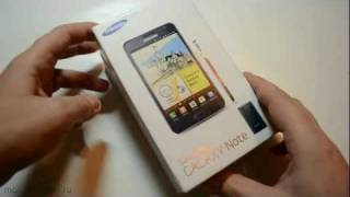 Распаковка Samsung Galaxy Note (N7000) (unboxing)