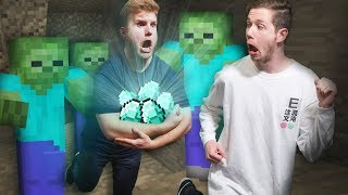 Escaping a Mine Shaft With Diamonds!   Minecraft [Ep 17]